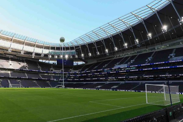LONDON,ENGLAND - DECEMBER 16:  A general view of inside the new stadium during the Tottenham Hotspur New Stadium Fan Event on December 15, 2018 in  London,United Kingdom. (Photo by Tottenham Hotspur FC/Tottenham Hotspur FC via Getty Images)